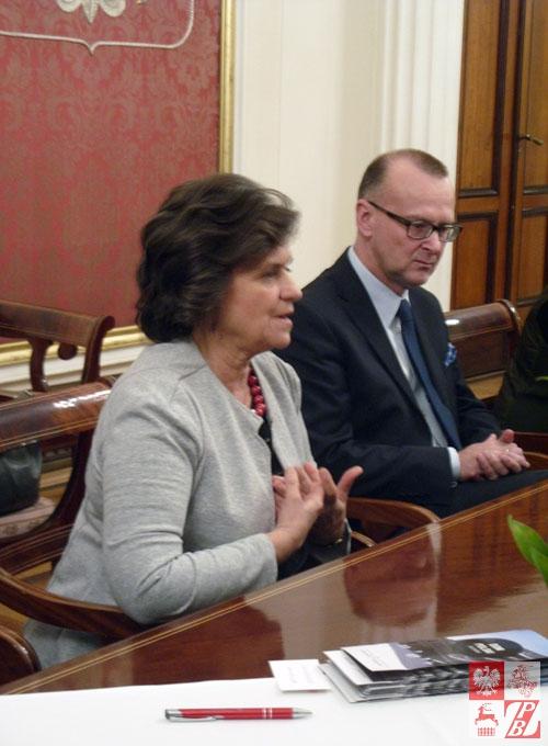 Poseł na Sejm RP i Dariusz Piotr Bonisławski,gospodarz konferencji