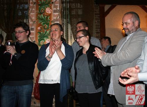 Delegacja Stowarzyszenia ODRA-NIEMEN: Małgorzata Suszyńska (członek Zarządu), Ilona Gosiewska (prezes Zarządu), Eugeniusz Gosiewski (sekretarz Zarządu)