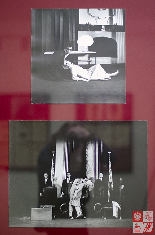 """Zdjęcia ze spektaklu na podstawie dzieła """"Requiem dla zakonnicy"""" Williama Faulknera w adaptacji Alberta Camusa w wykonaniu teatru Ateneum, Warszawa 1963 rok"""