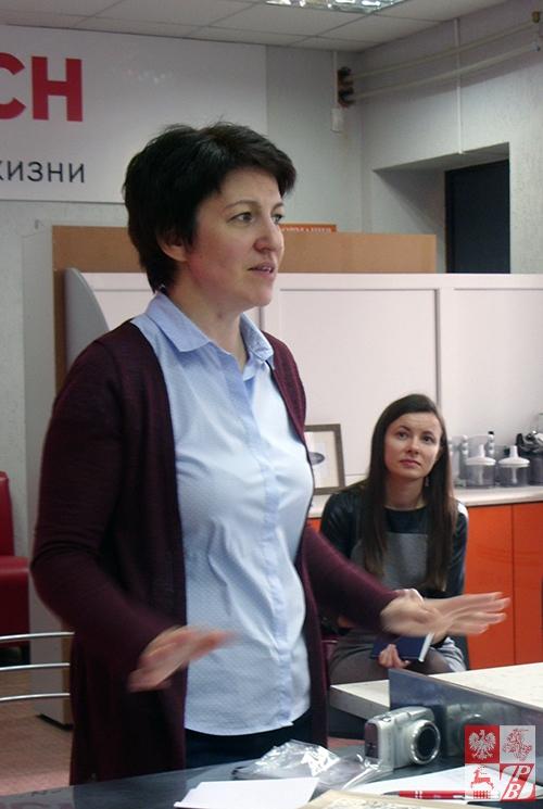 """Koordynator projektu """"Kuchnia Polska"""" z ramienia Instytutu Polskiego w Mińsku Helena Zdobnikowa"""