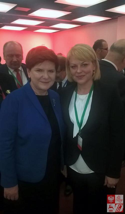 Premier RP Beata Szydło i Andżelika Borys