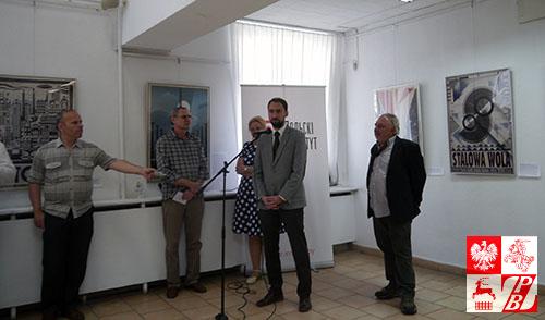 Przemawia Tomasz Adamski, szef Instytutu Polskiego w Mińsku
