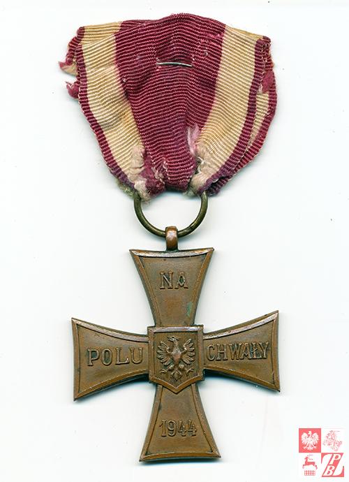 Krzyż Walecznych Sidora Bałanowicza, przechowywany przez jego potomków - obecnie przez wnuka Walerego Subotkę