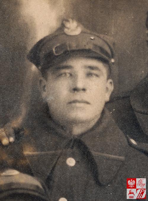 Sidor Bałanowicz w mundurze strzelca 82. Syberyjskiego Pułku Strzelców