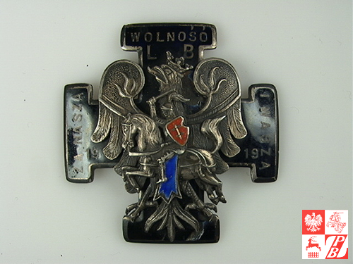 Odznaka oficerska Dywizji Litewsko-Białoruskiej, którą dowodził gen. Stanisław Bułak-Bałachowicz