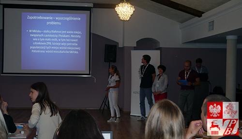Konkursowy projekt społeczny prezentuje młodzież z Mińska