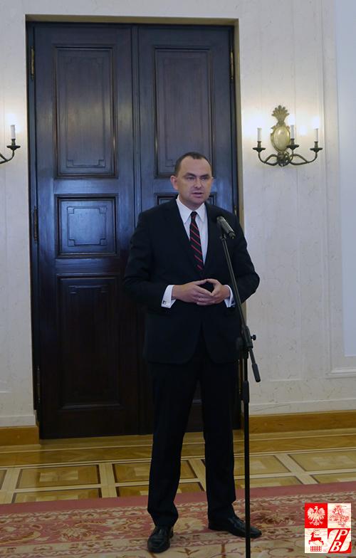 Szef Gabinetu Prezydenta RP Andrzeja Dudy przemawia do nauczycieli