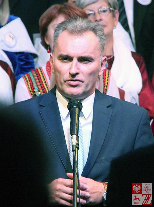 Przemawia Paweł Kanclerz, burrmistrz Ożarowa Mazowieckiego