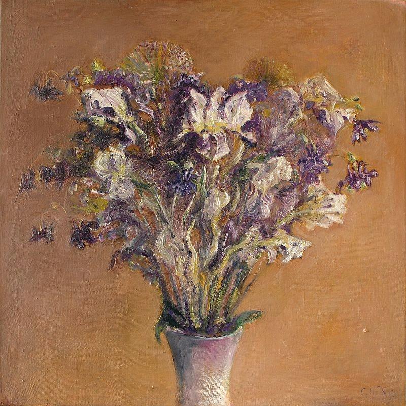 George Smith. Kwiaty. Olej. Płótno 60x60