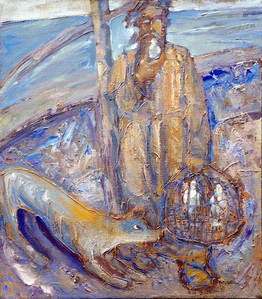 Stanisław Kuźmar. Noe. Olej. Płótno 56x49