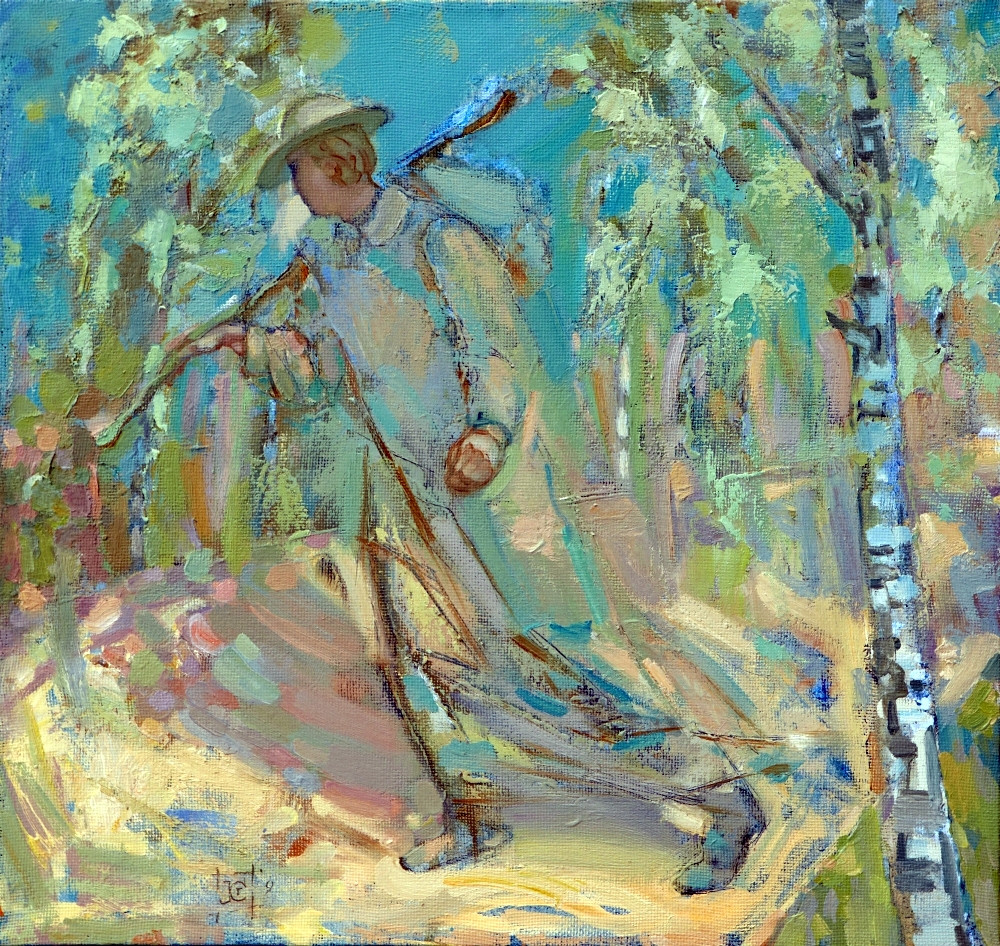 Stanisław Kuźmar. Pielgrzym. Olej. Płótno 96x54