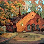 Czesław Szamszur. Łaźnia. Karton. Pastel 53x68