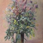 George Smith. Polne kwiaty. Olej. Płótno 50x70