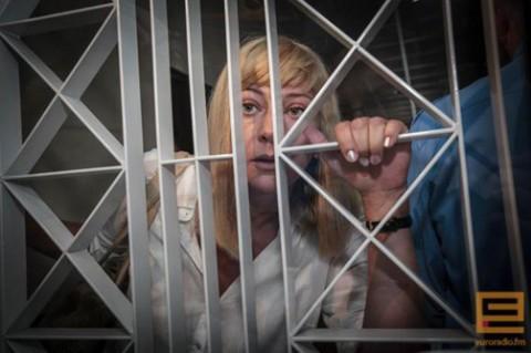 Iryna Chalip w sądzie, fot.: Euroradio
