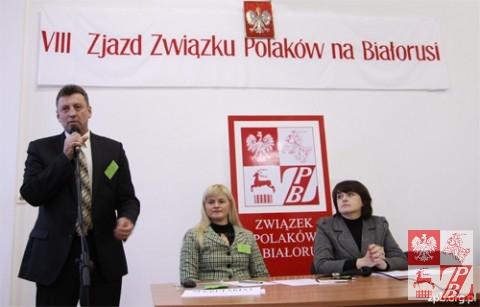 Mieczysław Jaśkiewicz zwraca się do delegatów Zjazdu już jako prezes ZPB