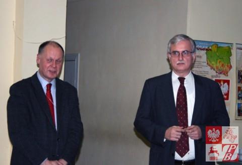Andrzej Chodkiewicz, konsul generalny RP w Grodnie i Piotr Kościński
