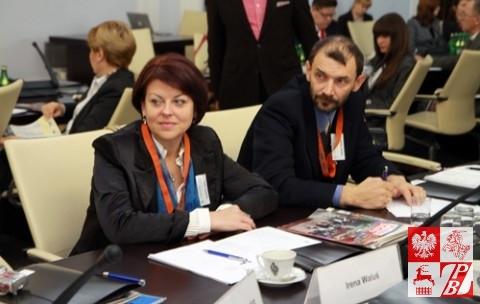 Andżelika Borys, gość specjalny konferencji i Andrzej Pisalnik, reprezentujący portal znadniemna.pl