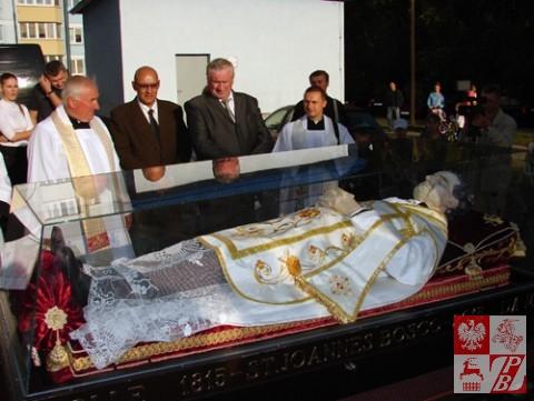 Przybycie relikwii świętego do Borowlan