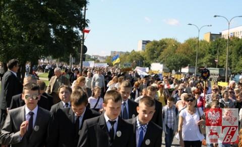 Przemarsz ulicami Białegostoku