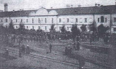 Budowa Kopca Dobrowczyków, 1918 r.