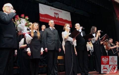 Przemawia Jan Chojnowski, przewodniczący sejmiku województwa podlaskiego