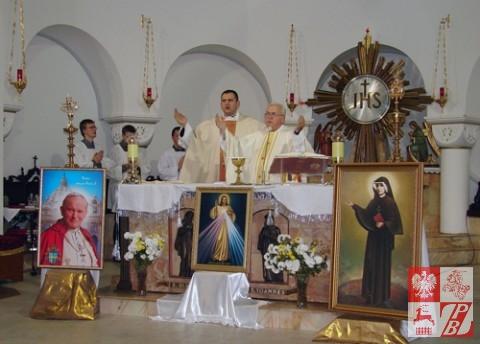 Uroczyste nabożeństwo za wolną i niepodleglą Polskę w Mińsku.