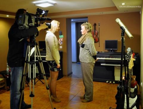 Wioletta Kowalczuk udziela wywiadu