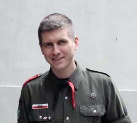"""Daniel Górnicki, autor artykułu """"Akcja Paczka dlaczego harcerze jadą na Wschód"""", fot.: ZHR"""