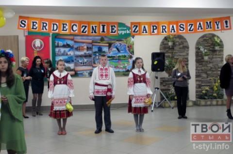 Powitanie uczestników festiwalu w Szkole Średniej nr 38 w Grodnie