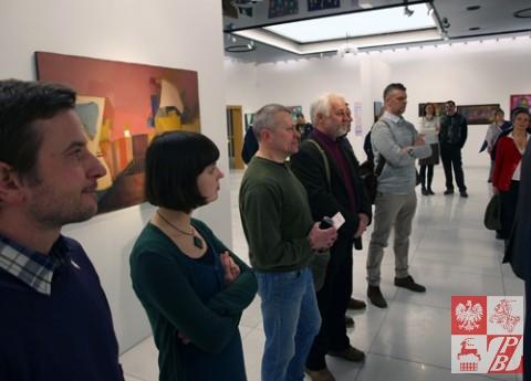 Delegacja Towarzystwa Plastyków Polskich przy ZPB na wernisażu wystawy