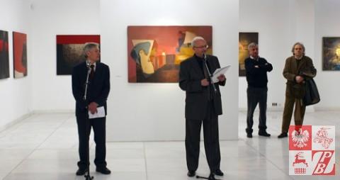 Stanisław Kiczko i Zbigniew Buski - podczas wernisażu wystawy