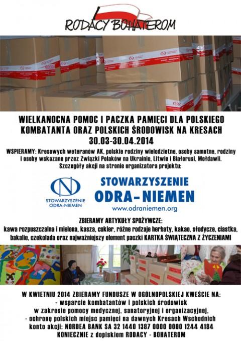 """Oficjalny plakat, promujący akcję """"Rodacy-Bohaterom"""""""