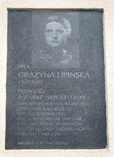 Tablica pamiątkowa na pl. Przymierza w Warszawie, fot.: http://klubprzyjaciolfilmugrodno1939.wordpress.com/