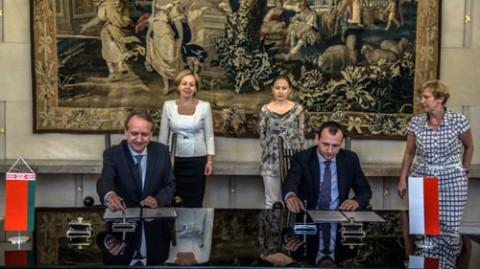 Podczas parafowania porozumienia o współpracy w dziedzinie edukacji, fot.:mfa.gov.by