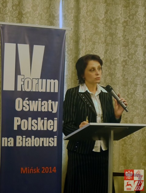 Wice kierownik Departamentu ds. Ogólnej Średniej Edukacji w Ministerstwie Edukacji RB Irina Karżowa tłumaczy się z kontrowersyjnej inicjatywy swojego resortu