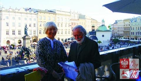 Janina Pilnik i Ziemowit Podkowa, kurator pleneru w Krzeszowie