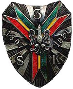 Odznaka 3. Pułku Strzelców Konnych, fot.: Wikipedia