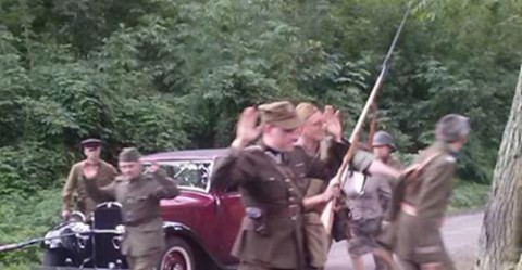 """Scena z filmu """"Krew na bruku. Grodno 1939"""", fot.: LunarSix"""