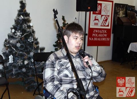 """Kolędę """"Cicha noc"""" śpiewa Antoni Romaniuk z Lidy"""
