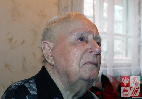 Wzruszony wizytą Kazimierz Tumiński