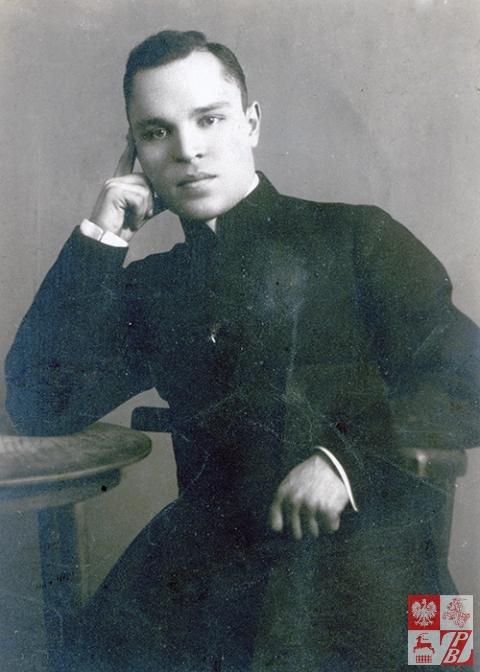 Ks. Kazimierz Tomkowicz, młodszy brat Karola, jako kleryk Wyższego Seminarium Duchownego w Wilnie