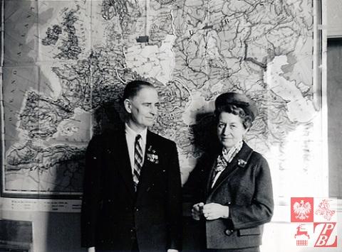 24 marca 1963 r. Vancouver (Kanada). Narcyz Łopianowski z żoną Ireną