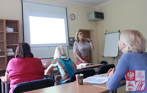 Podczas zajęć z dr Anetą Lewińską