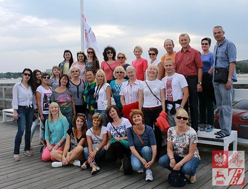 Uczestnicy szkoleń na sopockim molo