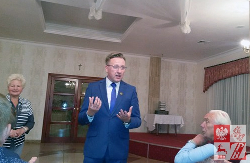 Artur Konrad dziękuje Polakom z Białorusi za przybycie na obchody Dnia Jedności Kresowian