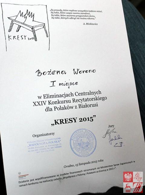 Kresy_2015_Bozena_Worono_dyplom