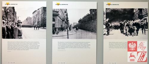 Plansze, opowiadające o Warszawie pod okupacją hitlerowską