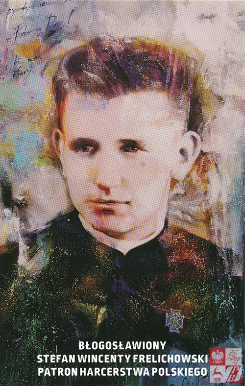 Reprodukcja portretu bł.Stefana Wincentego Frelichowskiego pędzla Andrzeja Filipowicza