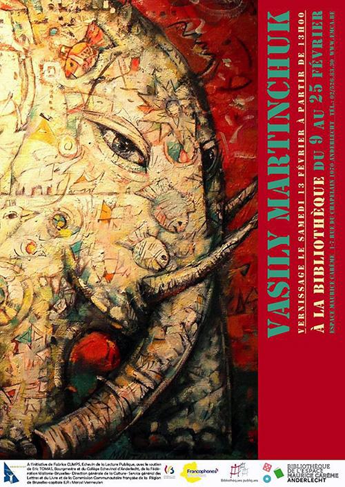 Afisz wystawy Wasyla Martyńczuka w Bibliothèque de l'Espace Maurice Carême w Brukseli, fot.: facebook.com