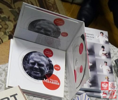 Książka i audiobook poezji Czesława Miłosza w tłumaczeniu na język białoruski Andreja Chadanowicza